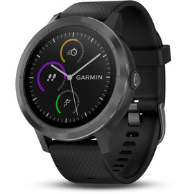 Garmin vívoactive 3 GPS Sport Clock With black silicone strap, schiefer